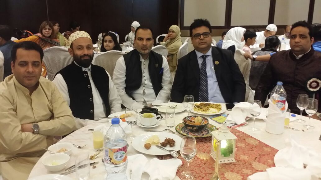 At Aligarh Muslim University Iftar Event in Dubai
