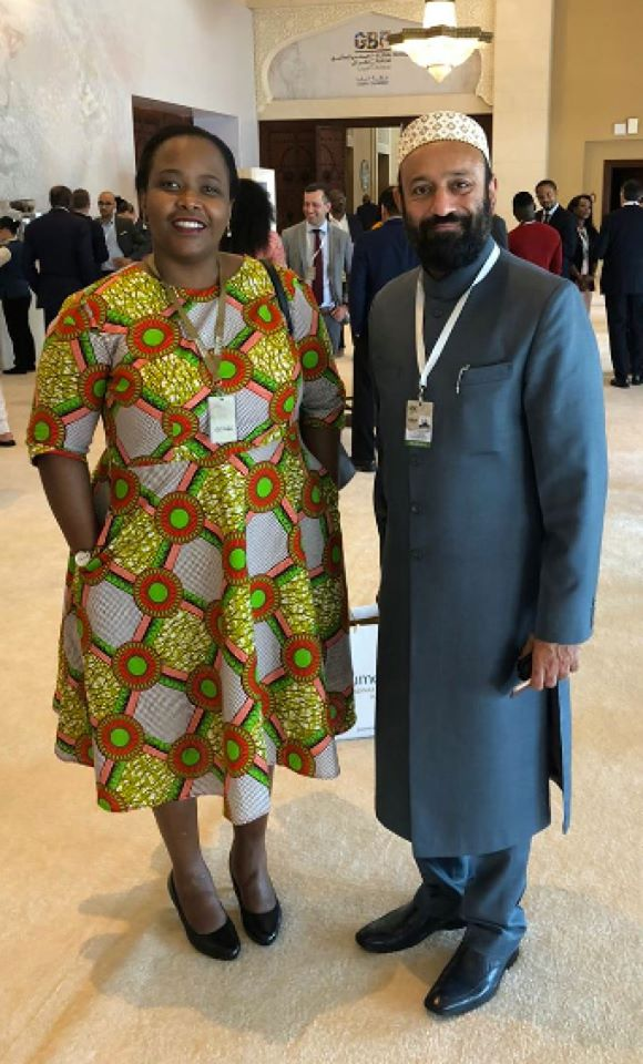with H.E. Clare Akamanzi - Cabinet Member of Republic of Rwanda & CEO of Rwanda Development Board