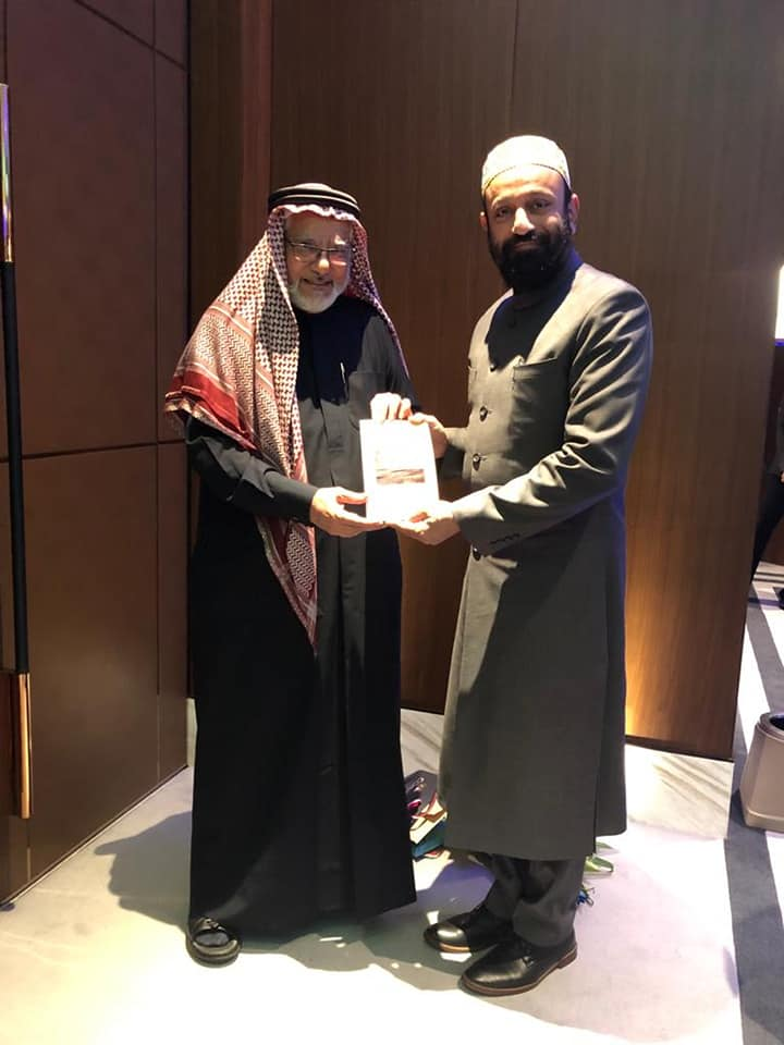 "Dr. Mustafa Saasa with Dr. Shihab Ghanem – Renowned UAE Poet, whose Poems are translated in 20 Languages & The First Arab to Win ""The Tagore Peace Award in 2012"". Presenting his Poem during the event ""Awakening the Soul"" on the theme of ""Unity"
