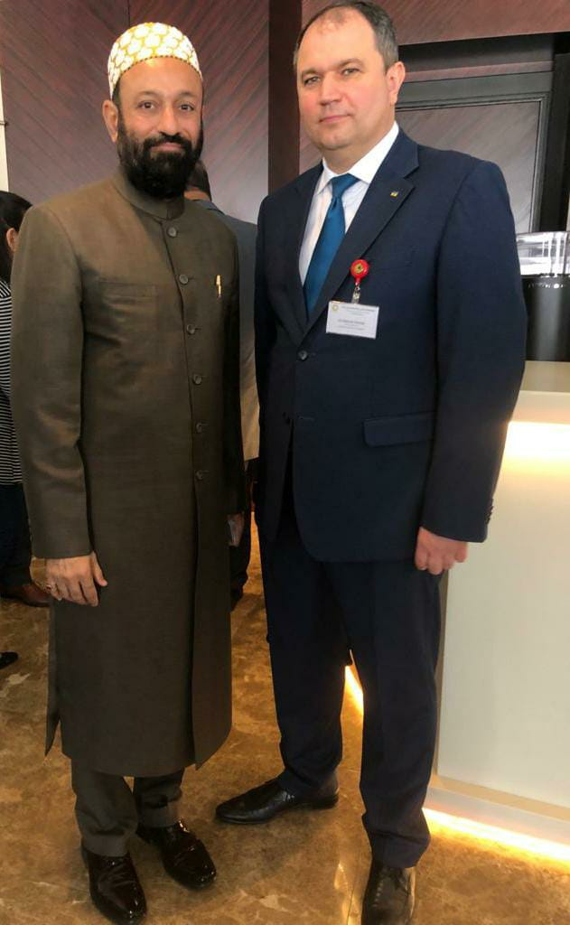 Dr. Mustafa Saasa with H.E.  Khomiak Oleksandr – Consul General of Ukraine to Dubai – UAE