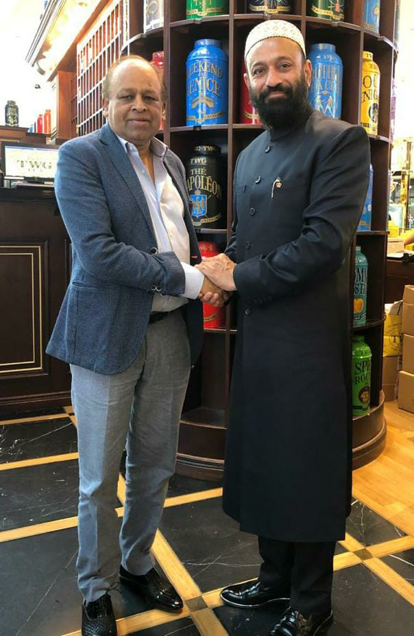 Dr. Mustafa Saasa with H.E. Vikash Mittersain - Honorary Consul of Republic of Mali