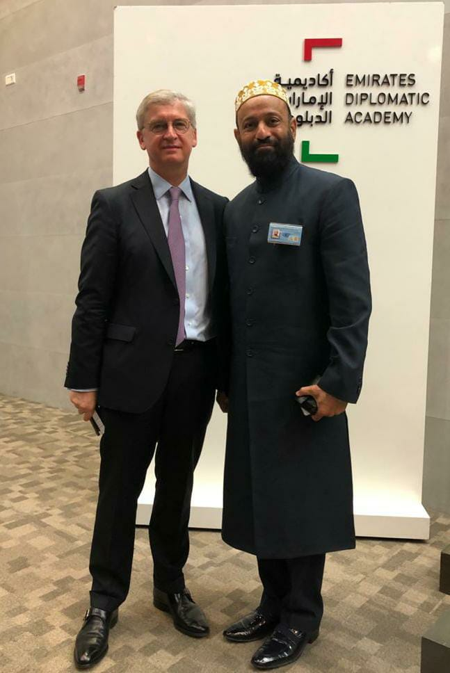 Dr. Mustafa Saasa with H.E. Lody Embrechts - Ambassador of Netherlands to UAE